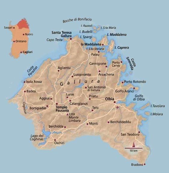 Cartina Sardegna Isola Rossa.Discover Gallura In The North Of Sardinia Island Petri Marini Hotel